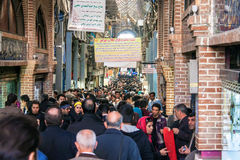 Eople in central bazaar Royalty Free Stock Photo