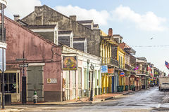 Eople visit historic building in the French Quarter Royalty Free Stock Photos