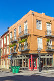 Eople visit historic building in the French Quarter Royalty Free Stock Photography