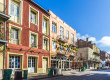 Eople visit historic building in the French Quarter Stock Images