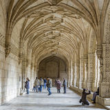 Eople visit the Jeronimos Monastery Stock Images