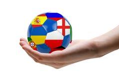 Eoro barwił piłkę Zdjęcia Stock
