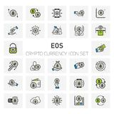 EOS Crypto Currency icons set. For web design and application interface, also useful for infographics. Vector illustration Royalty Free Stock Images
