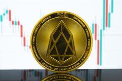 EOS is een moderne manier van uitwisseling en deze crypto munt royalty-vrije stock afbeelding