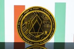EOS is een moderne manier van uitwisseling en deze crypto munt royalty-vrije stock foto