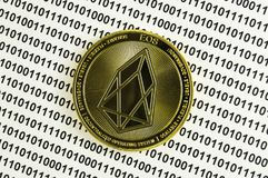 EOS is a modern way of exchange and this crypto currency is a convenient means of payment in the financial and web markets. EOS is a modern way of exchange and stock photo