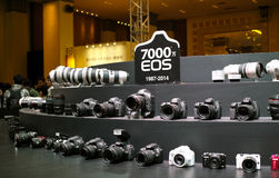 EOS system in Canon Grand Fair 2014 Guangzhou royalty free stock image