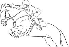 το άλογο που πηδά εμφανίζ&ep Στοκ Φωτογραφία
