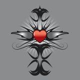δερματοστιξία καρδιών σχ&ep Στοκ Εικόνα