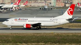 EP-TAF Ata Airlines Iran, Boeing 737-300 stock photo