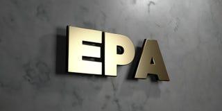 Epa - sinal do ouro montado na parede de mármore lustrosa - 3D rendeu a ilustração conservada em estoque livre dos direitos ilustração do vetor