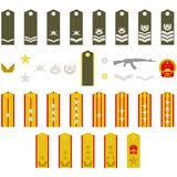 Epaulets Chinese army Royalty Free Stock Photos