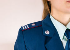 Epaulettes and dress code of tax inspector of Russian Royalty Free Stock Photos