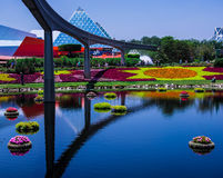 Epcot中心花和庭院节日-华特・迪士尼世界 免版税库存照片