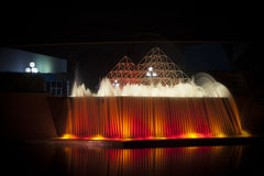 Epcot Center Fountain at Night Royalty Free Stock Images