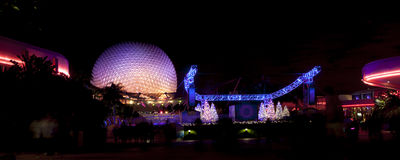Epcot Center Future World at Night Royalty Free Stock Photo