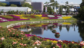 EPCOT Center gardens Stock Photography