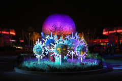 Epcot Christmas decorations. Royalty Free Stock Images