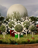 Epcot Christmas decorations. Royalty Free Stock Photo
