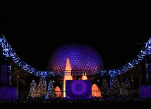 Epcot Christmas decorations. Royalty Free Stock Image