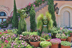 Epcot Flower & Garden Show - Topiary Dogs - Lady & the Tramp Stock Photography
