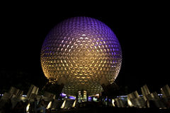 Epcot globe in Orlando Florida at night Stock Image