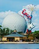 Epcot mitt, Orlando Florida Arkivbilder