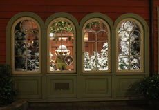 Epcot Norway; Christmas Window design Royalty Free Stock Image