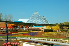 Epcot Pyramid and Monorail Royalty Free Stock Photography