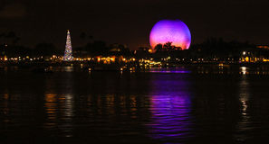 Epcot Reflection of Spaceship Earth Royalty Free Stock Photos