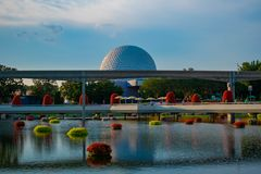 In Epcot at Walt Disney World Resort 38. Orlando, Florida. May 28, 2019. in Epcot at Walt Disney World Resort 38 stock photography