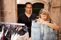 Epensive Clothes Shopping Stock Photography