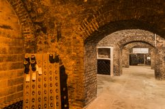 Caves Charles Mignon. Epernay, France - June 9, 2017: Caves of Champagne Charles Mignon in Epernay, France Royalty Free Stock Photography