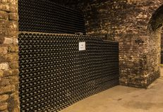 Cellar Castellane Epernay France. Epernay, France - June 10, 2017: Champagne caves at the Champagne House Castellane, France Stock Images