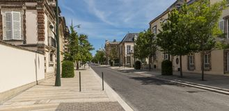 Avenue de Champagne Epernay. Epernay, France - June 8, 2017: Street `Avenue de Champagne` in Epernay with all the big Champagne houses, France Royalty Free Stock Image