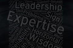 Epertise ,Word cloud art on blackboard.  stock photo