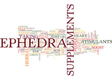 Ephedra Supplements May Not Be Worth The Risk Word Cloud Concept Stock Images