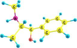 Ephedrine molecule  on white Stock Photos