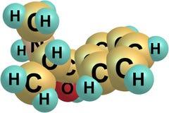 Ephedrine molecule  on white Royalty Free Stock Photos