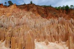 Tsingy Rouge. Ephemeral beauty of Madagascar Tsingy Rouge royalty free stock photo