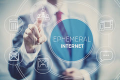 Ephemeral Internet concept illustration. Ephemeral internet illustration, temporary short-lived content Stock Photography
