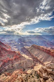 Ephemeral sunlight in the Majestic Grand Canyon Royalty Free Stock Photo