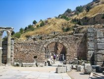 Ephese ancient antique city Royalty Free Stock Photo
