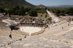 Ephesus。 Ðmphitheatre。 库存图片