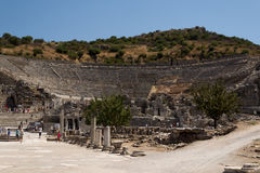 Ephesus。 Ðmphitheatre。 免版税图库摄影
