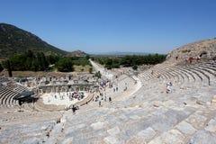 Ephesus的圆形露天剧场 免版税库存照片