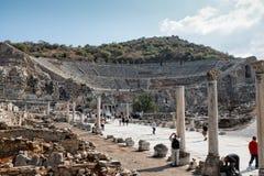 Ephesus的圆形露天剧场 免版税库存图片