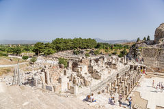 Ephesus, Турция Грандиозный театр Предположительно построенный в 133 ДО РОЖДЕСТВА ХРИСТОВА Стоковые Фото