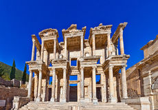 Ephesus. Roman Library of Celsus in Ephesus (Efes) from Roman time Stock Photo