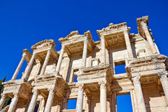 Ephesus. Roman Library of Celsus in Ephesus (Efes) from Roman time in Turkey Royalty Free Stock Photography